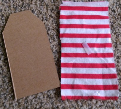 Supplies for recycled cardboard gift tags
