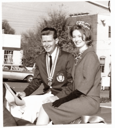 My mom and dad at the Welcome Home parade.