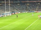 Diarmuid Connolly prepares to smash home a crucial goal for Dublin from the penalty spot