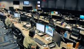 Signal and military intelligence NCOs watch for network attacks at the Army's Cyber Operations Center at Fort Gordon, Ga. (Army/Michael L. Lewis)