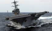 The author applauds the QDR for underlining the risks of sequestration, which could cost the Navy an aircraft carrier. (Navy photo)