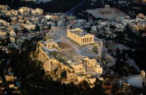Aerial View of Acropolis of Athens