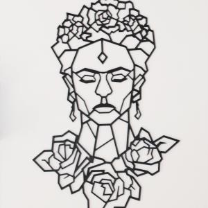 Frida - 96/65 cm - Noir en Bois