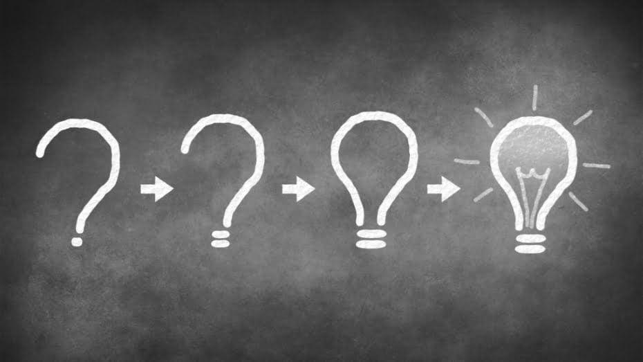 Question et ampoule
