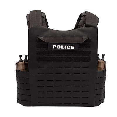 Fearless Plate Carrier - with Tubes - Rear View