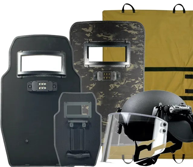 Ballistic Helmets and Shields