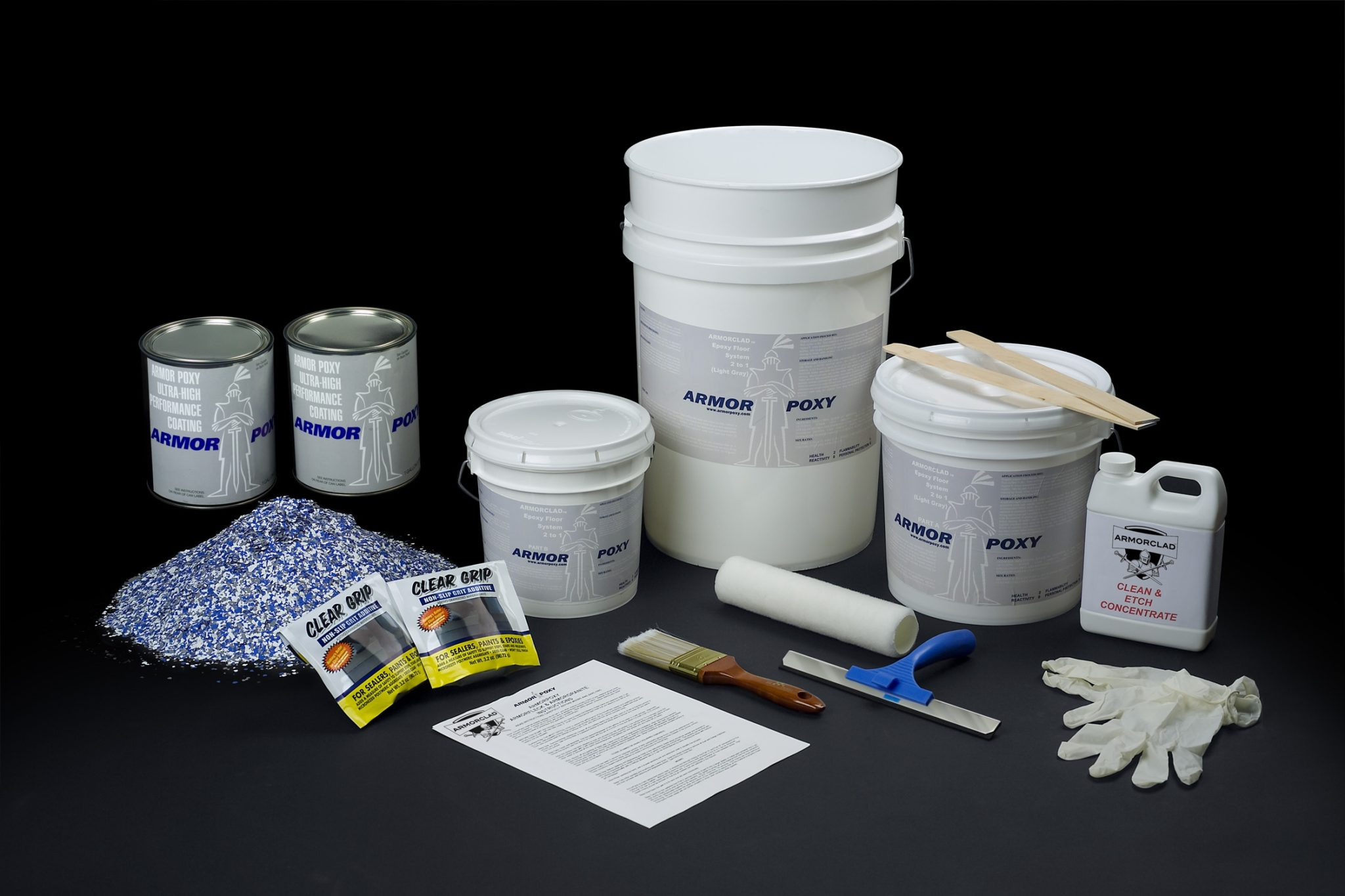 armorclad master kit up to 600 sq ft with topcoat