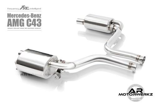 FI exhaust C43 AMG W205 muffler
