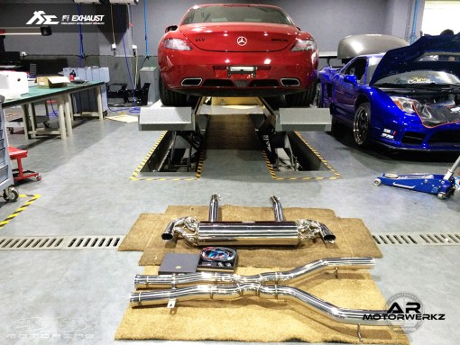 Fi Exhaust AMG SLS Car Photo with Full system