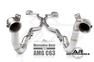 Fi Exhaust C63 AMG W205 full front