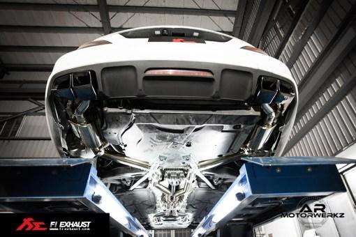 Fi Exhaust CLS63 AMG W218 on car