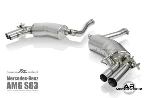 Fi Exhaust S63 AMG Coupe C217 muffler