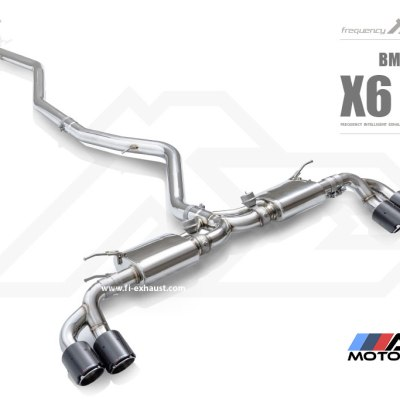 F16, x6, fi exhaust, catback, muffler, 35i