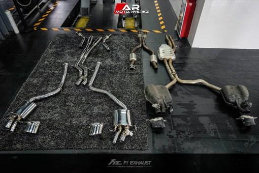 AUDI C7 RS6 Fi EXHAUST VS STOCK