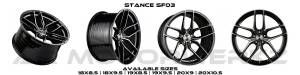Stance SF03 GLOSS BLACK TINTED MACHINED