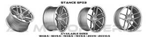 Stance SF03 brush face silver