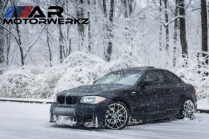 BMW 1 Series Coupe in Snow