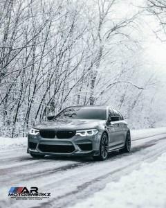 BMW F90 M5 in Snow