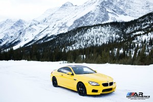 BMW M6 in Snow
