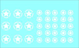 Black Lion Decals 1/72nd Allied White Stars - Broken Circle