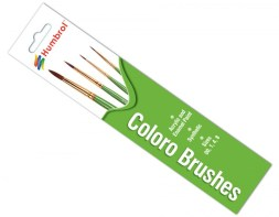 Humbrol Coloro Brushes Sizes 00,1,4 & 8