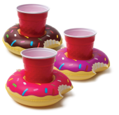 2. BigMouth Inc. 'Inflatable Donut Coasters' QTY 3 - $10.99