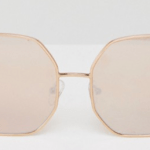 7. ASOS 'Metal Hexagon Sunglasses Rose Gold' $24