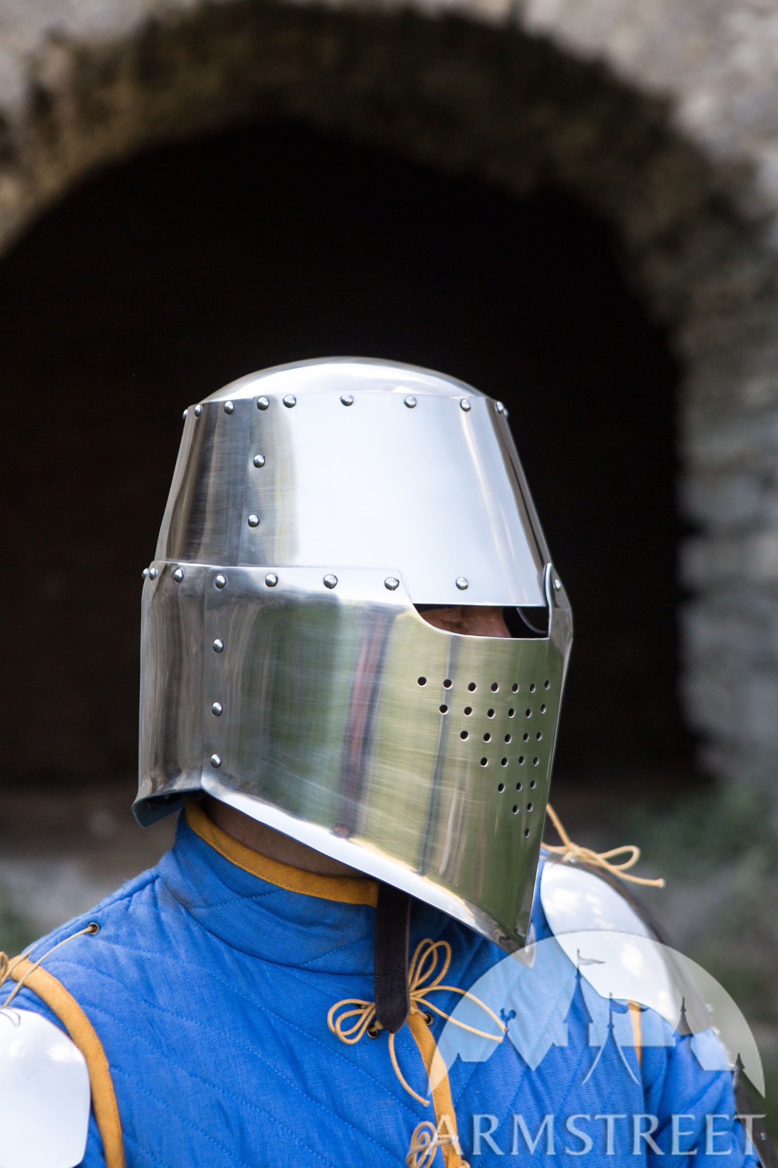Classic Medieval Greathelm Top Helm For Sale Available In