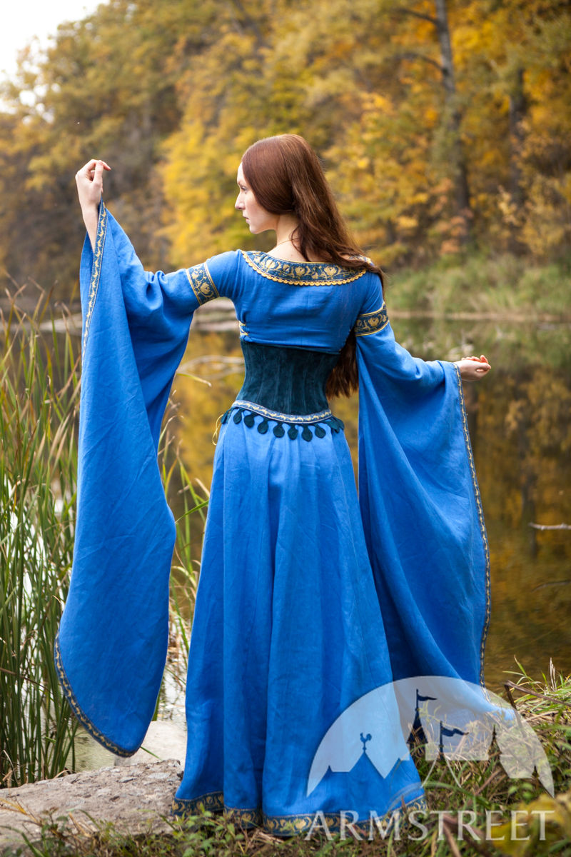 Medieval Style Suede Bodice Corset Belt Lady Of The Lake