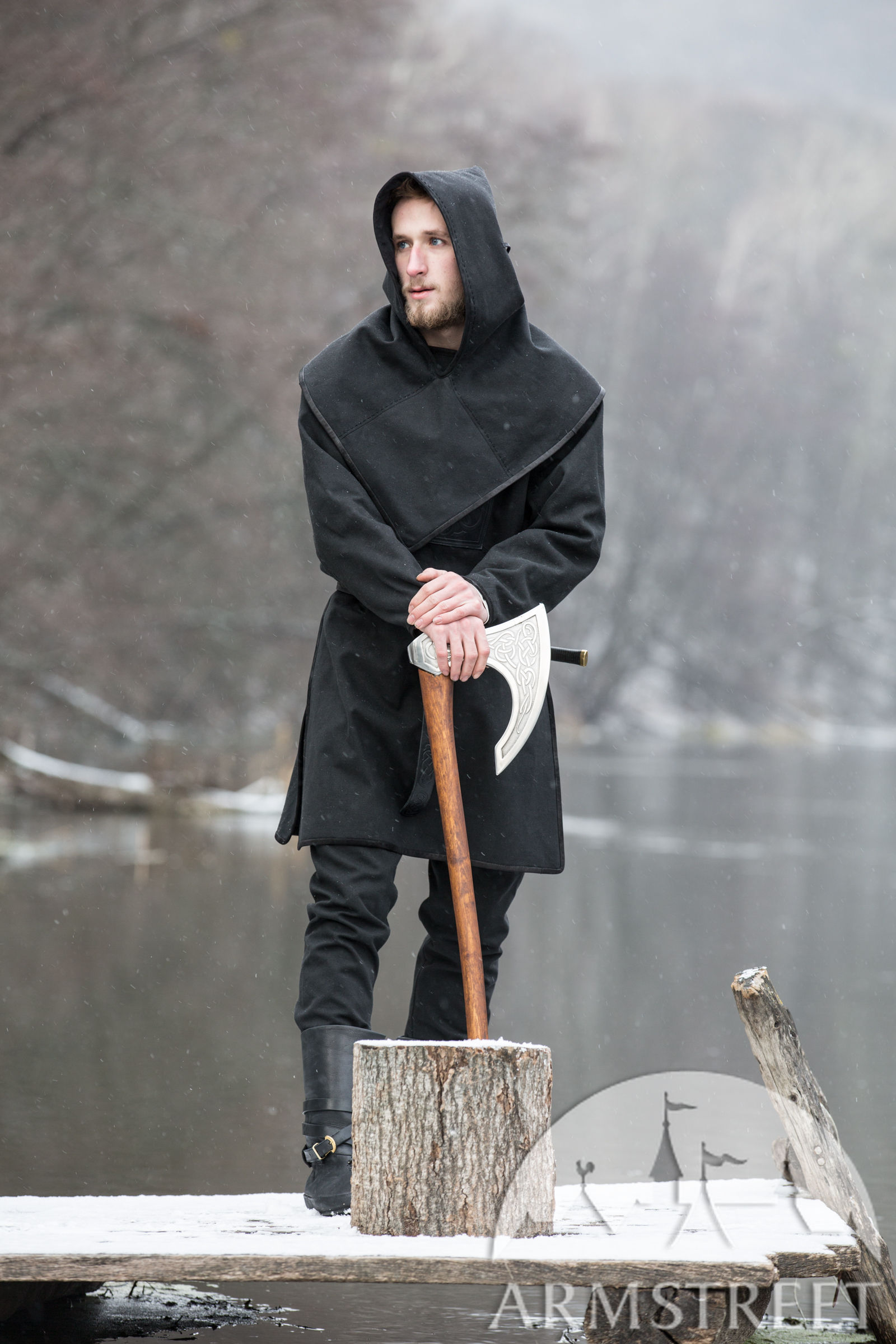 Ragnvaldur The Traveller Viking Hood For Sale Available