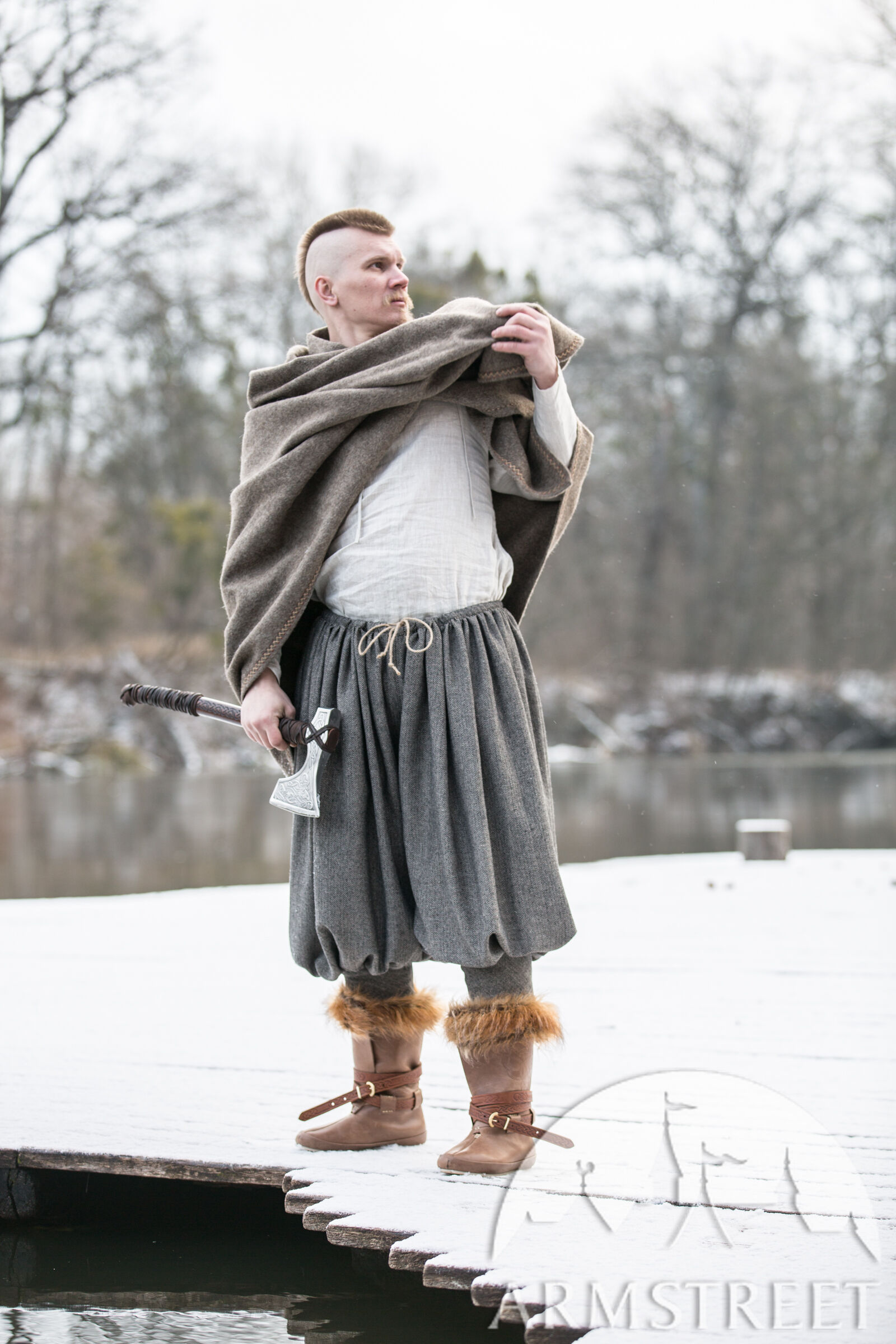 Wool Blend Viking Pants Olegg The Mercenary For Sale