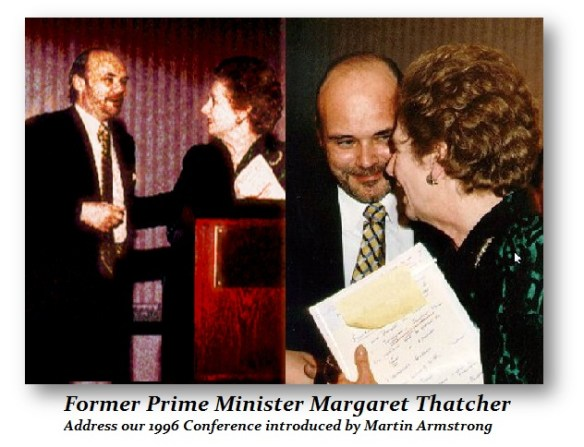 Martin Armstrong introduced Margaret Thatcher 1996