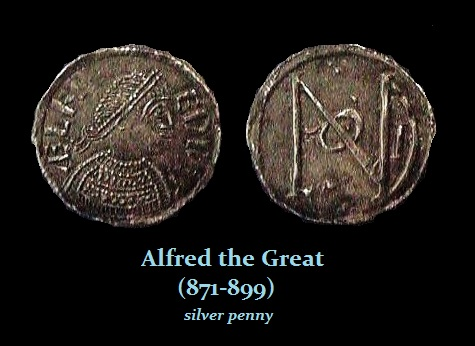 Alfred the great 871-899 silver penny