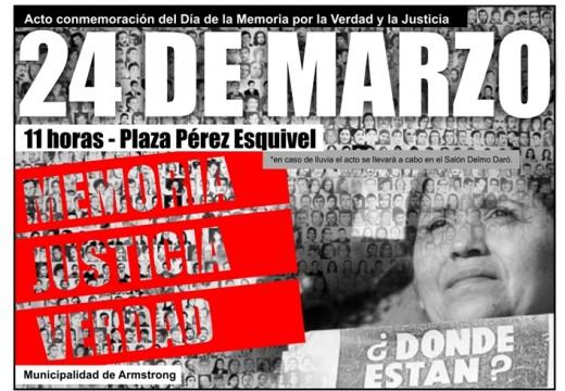 Acto en el Día de la Memoria, la Verdad y la Justicia.