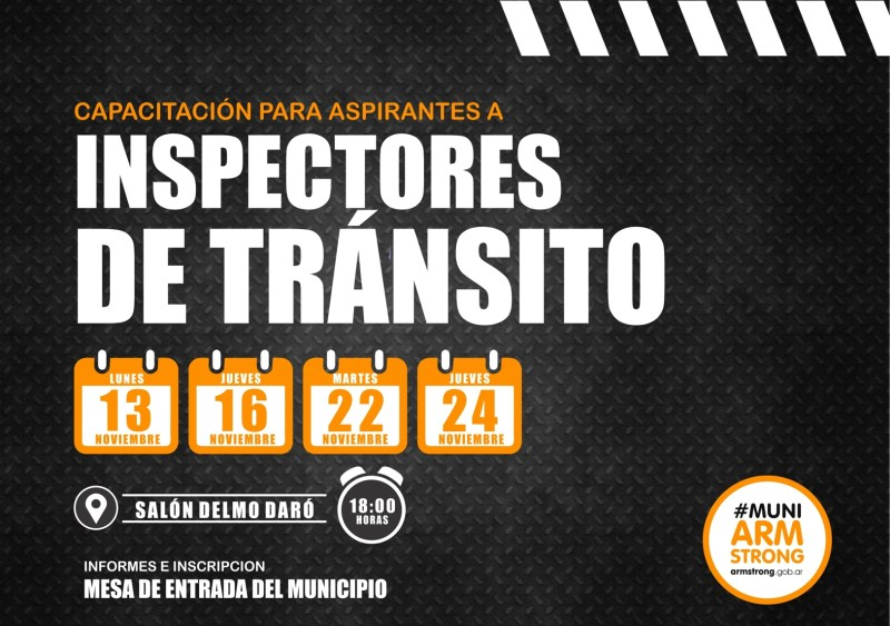 capacitacion aspirantes a inspectores de transito