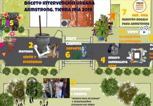 Armstrong. Intervención colectiva en el espacio urbano.