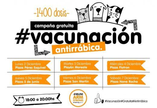Campaña gratuita de vacunación antirrábica.