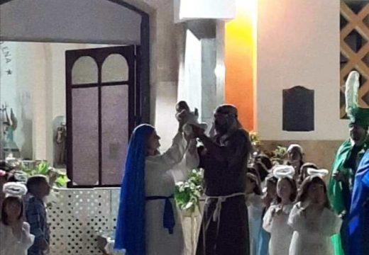Concurrido pesebre viviente en la  iglesia Nuestra Sra. De la Merced.