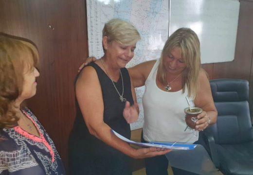 Clerici realizo gestiones ante la secretaria provincial de obras publicas.