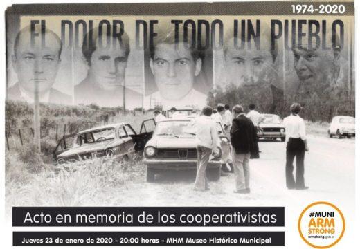 Armstrong. Acto homenaje a los cooperativistas.