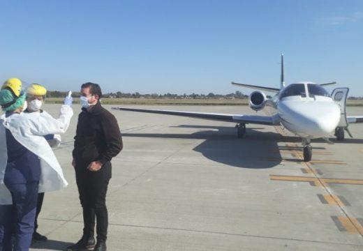 El Aeropuerto Rosario mantiene intensa actividad acompañando el sistema sanitario nacional y provincial