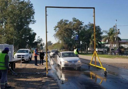 Continúan con los controles y desinfección de vehículos en acceso a Cañada.