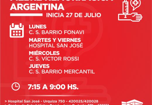 Cañada de Gomez. Hospital intensifica vacunacion contra la fiebre hemorragica argentina.