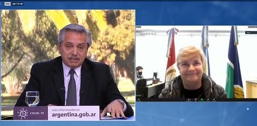 Clerici participo de video conferencia con el Presidente sobre el desarrollo de obra pública con perspectiva de género.