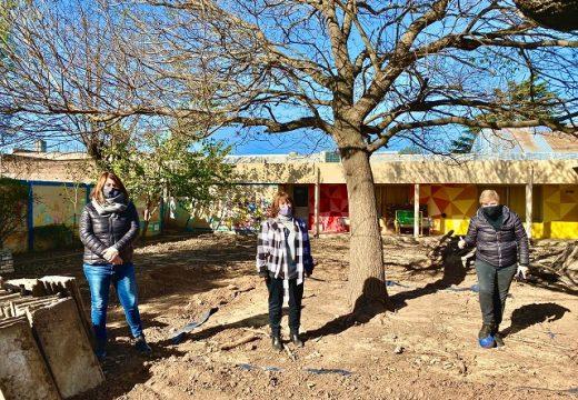 Clerici recorrio avances de obra en Escuela Alberdi.