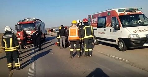 Grave accidente de un menor en moto sobre autopista Rosario- Córdoba.