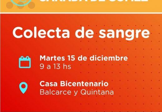 Cañada de Gómez. Hospital, Municipio y Cudaio realizan jornada de colecta de sangre.