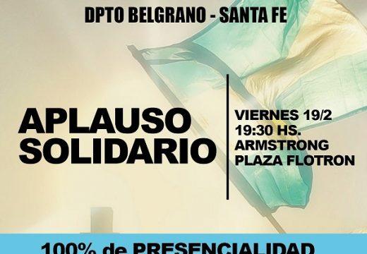 Padres organizados del Dto. Belgrano invitan a Aplauso Solidario pidiendo 100% de presencialidad en las aulas.