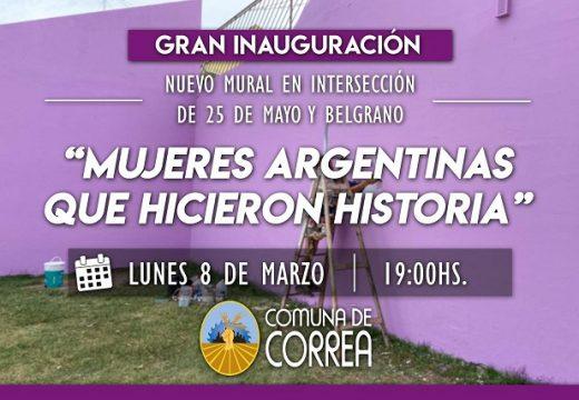 Correa celebra e inaugura en el «Día Internacional de la Mujer».