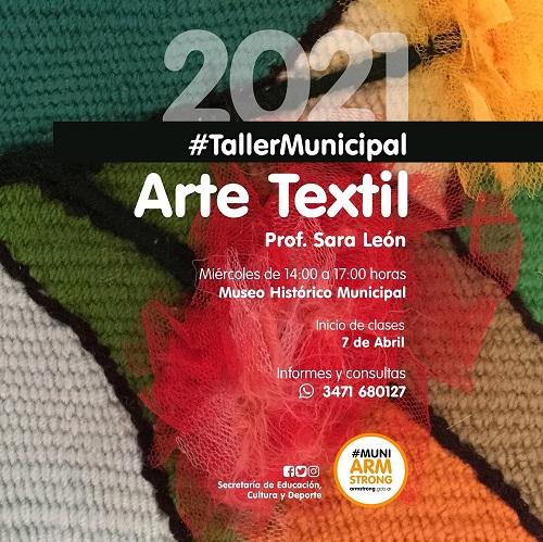 Armstrong. Taller municipal de Arte Textil 2021.